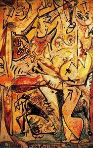 El inconsciente azul - (Jackson Pollock)