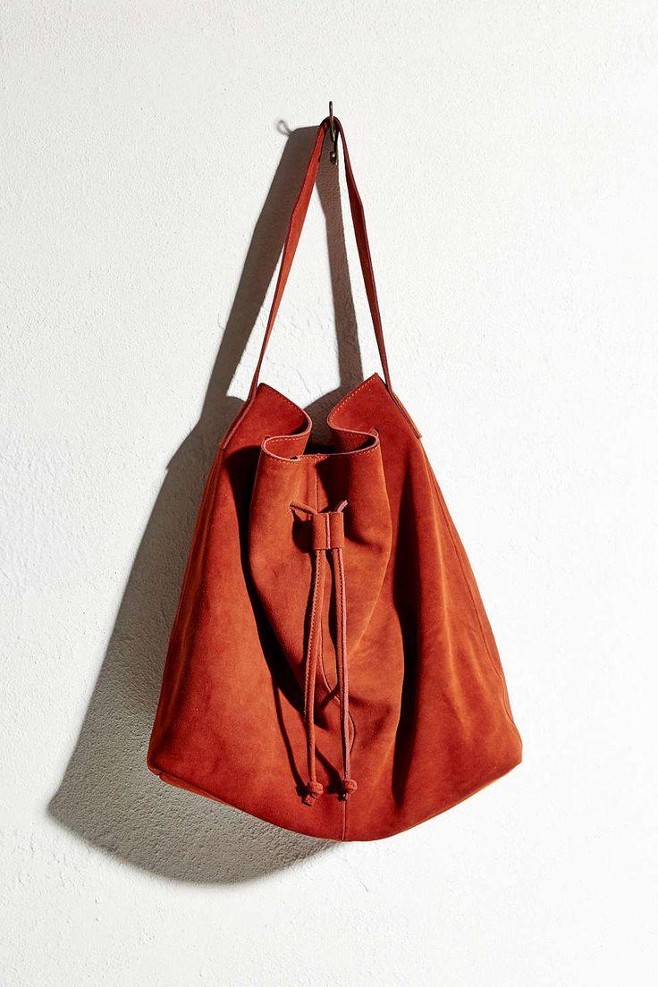 Ecote Suede Drawstring Tote Bag