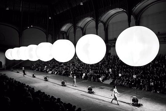 Yves Saint Laurent show in Paris...sit up front at major fashion show in Paris and New York