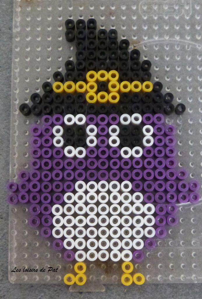 Owl Halloween hama perler beads by Les Loisirs de Pat