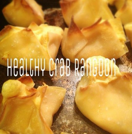 """@healthpanda """"Healthy crab Rangoon!!! This is my second time making these and it's amazing yet again!!"""""""