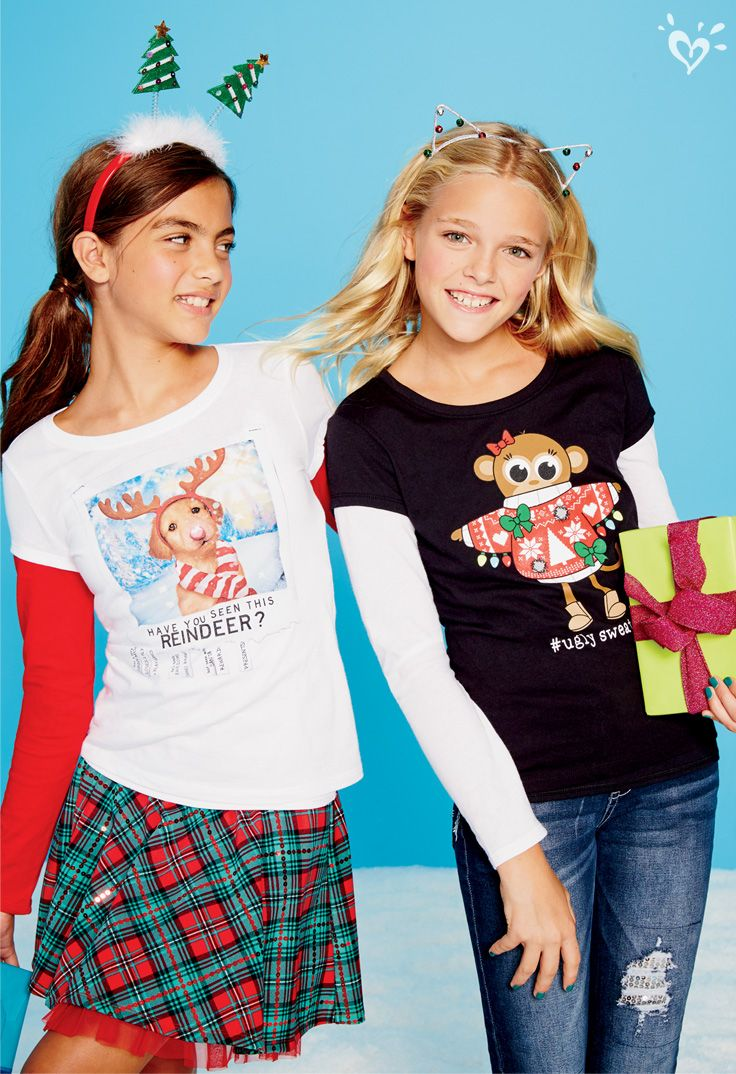 What goes best with holly jolly graphic tees? Matching ...