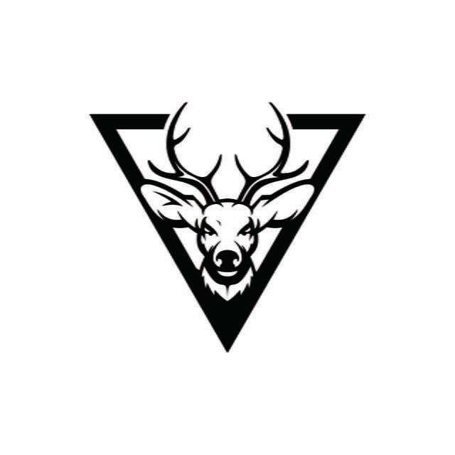 logo kepala rusa vektor desain grafis vektorgrafik hund latex
