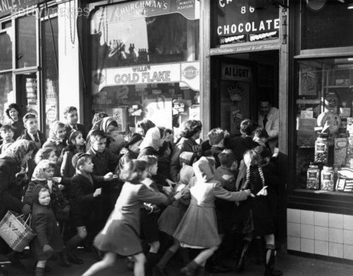 The day sweets rationing ended in Britain, 1953.