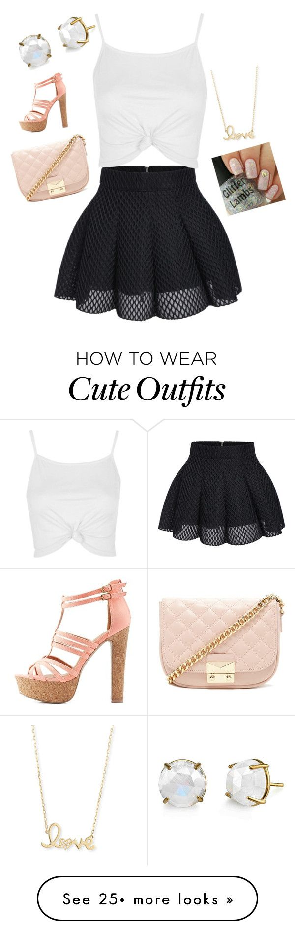 """""""Cute night Out Outfit"""" by iriana17 on Polyvore featuring Topshop, Forever 21, Sydney Evan and Charlotte Russe"""