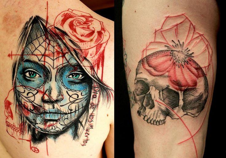 Les 9 meilleures images du tableau tatouage en point dotwork dot art tattoo sur pinterest - Tatouage 3 points en triangle ...