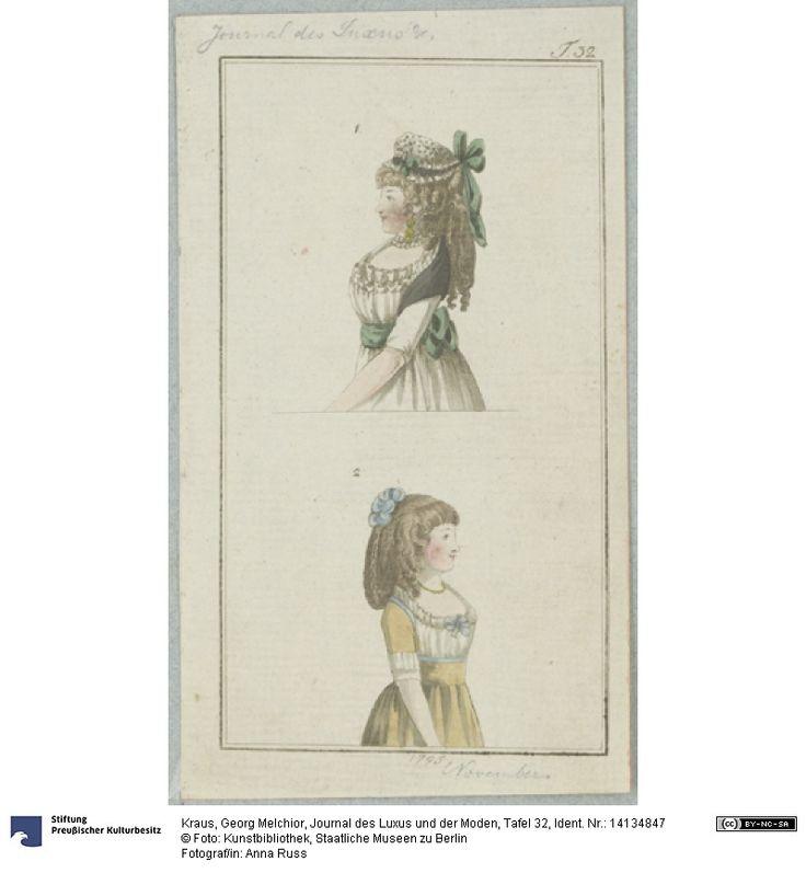 SMB-digital | Journal des Luxus und der Moden, Tafel 32, November 1795.