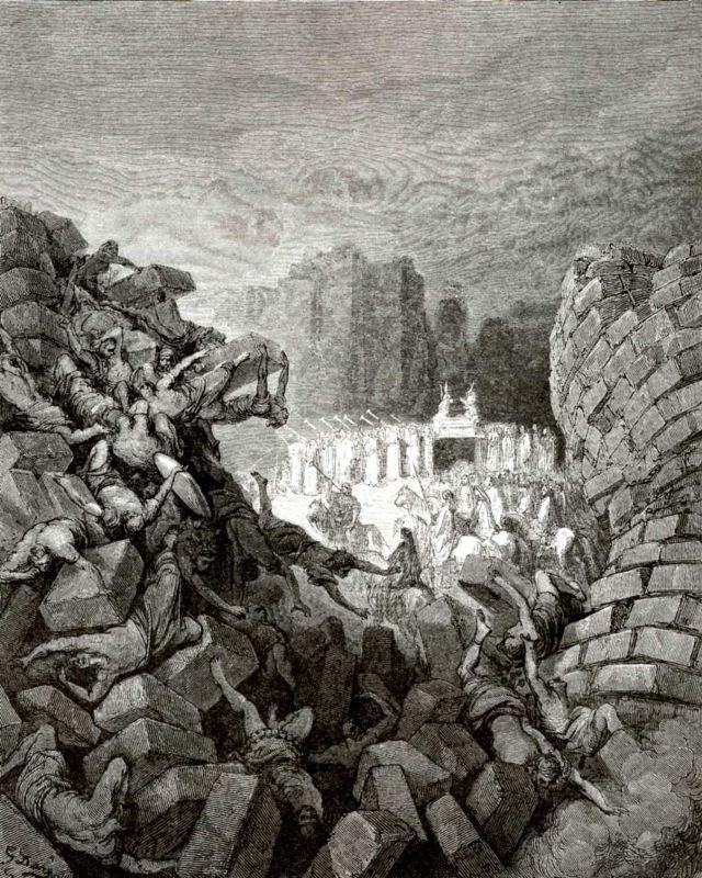 Поль Гюстав Доре. Иллюстрация к Библии: разрушение Иерихона