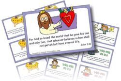 Sunday School Printables - Christian coloring pages, bookmarks, award certificates templates, calendars, greeting cards, stickers, Bible verse card makers