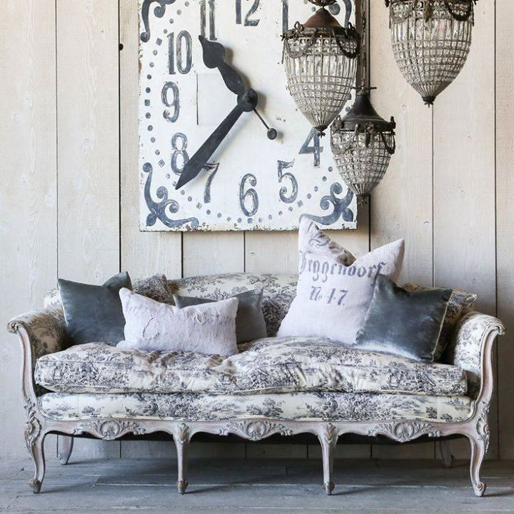 Toile French Sofa And The World On Pinterest