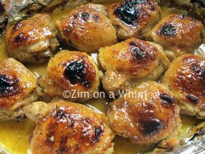 Maple Dijon Chicken Thighs - I don't have rice wine vinegar, but this looks really good!