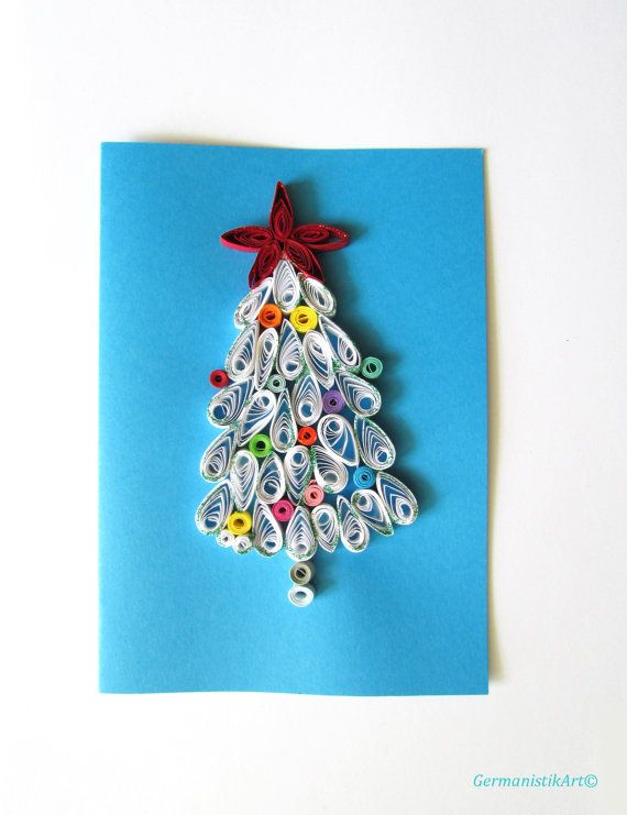 134 best Quilling Christmas Trees images on Pinterest Christmas - blank xmas cards