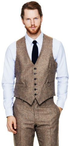 Club Monaco Made In The USA Waistcoat on shopstyle.com | A distinctive, debonair style that adds just the right amount of visual interest, our waistcoat features a classic houndstooth weave that performs equally nicely with or without a jacket.