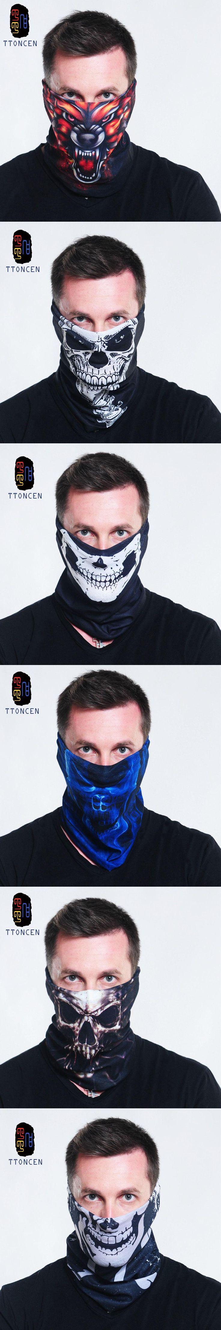 Skull Bandana Stretchable Tubular Bandana For  25*48cm Face Mask Cap Neck Tube Multifunctional Scarf Men Magic skull headwear