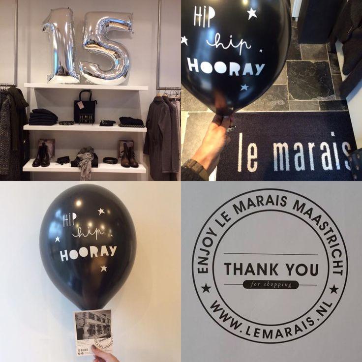Hip Hip HOORAY! #LeMaraisMaastricht 15 years of fashion! #ThankYou #celebrate #shopping #Maastricht Enjoy #LeMarais