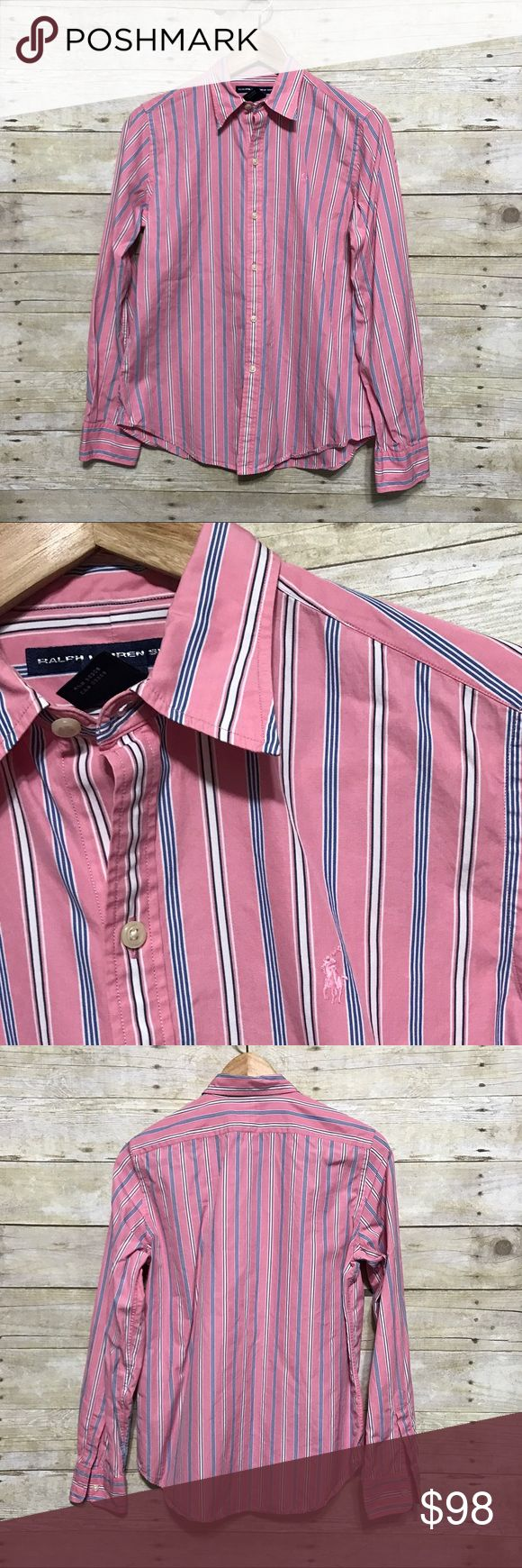 Ralph Lauren Sport striped cotton shirt, sz. M Ralph Lauren Sport striped cotton shirt, sz. M. Gently used.   Bundle discounts available! Sorry no trades 😊  Like what you see? Please check out all my listings and follow me! Instagram: dejavuapparel Pinterest: dejavuapparel  Twitter: _dejavuapparel . Ralph Lauren Tops Button Down Shirts