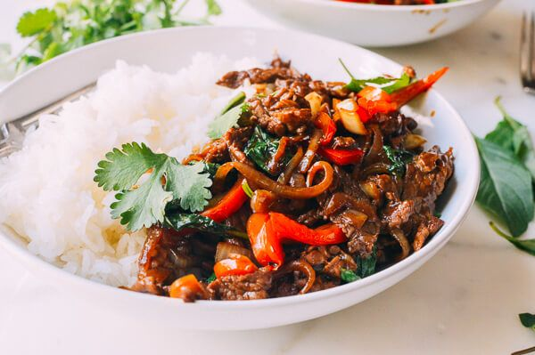 This is AMAZING!!! 4/7/16 made it. Thai Basil Beef (Pad Gra Prow), by thewoksoflife.com