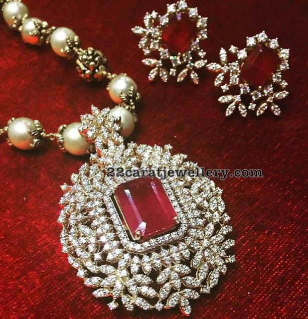 Diamond Pendant and Tops by Parnicaa - Jewellery Designs