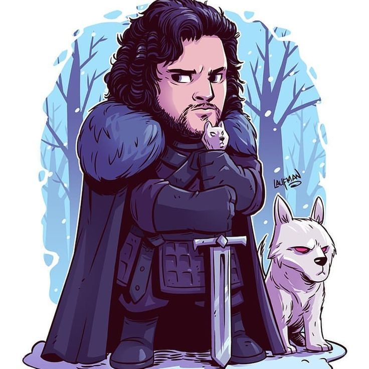 Esperando a última temporada de Game of Thrones  Crédito da imagem: @dereklaufman . . . TAGS: #gameofthrones #got #dereklaufman #jonsnow #kitharington #ghost #gots8 #gots7 #daenerystargaryen #dany #hbo #cartoon #art #desenho #arte #series #tv #filme #movie #cinema #nerd #geek