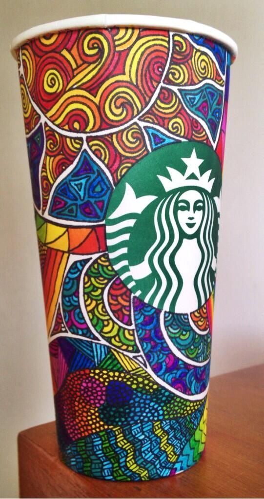 Tasse Starbucks multicolore