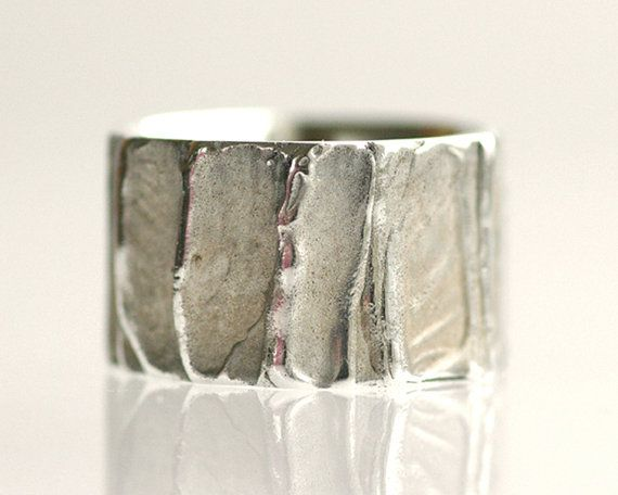 Wedding band sterling silver wedding ring unisex  by TinkenJewelry, $135.00