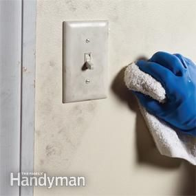 Before painting, clean grimy areas with a deglosser or heavy-duty cleaner so the paint can form a strong bond.