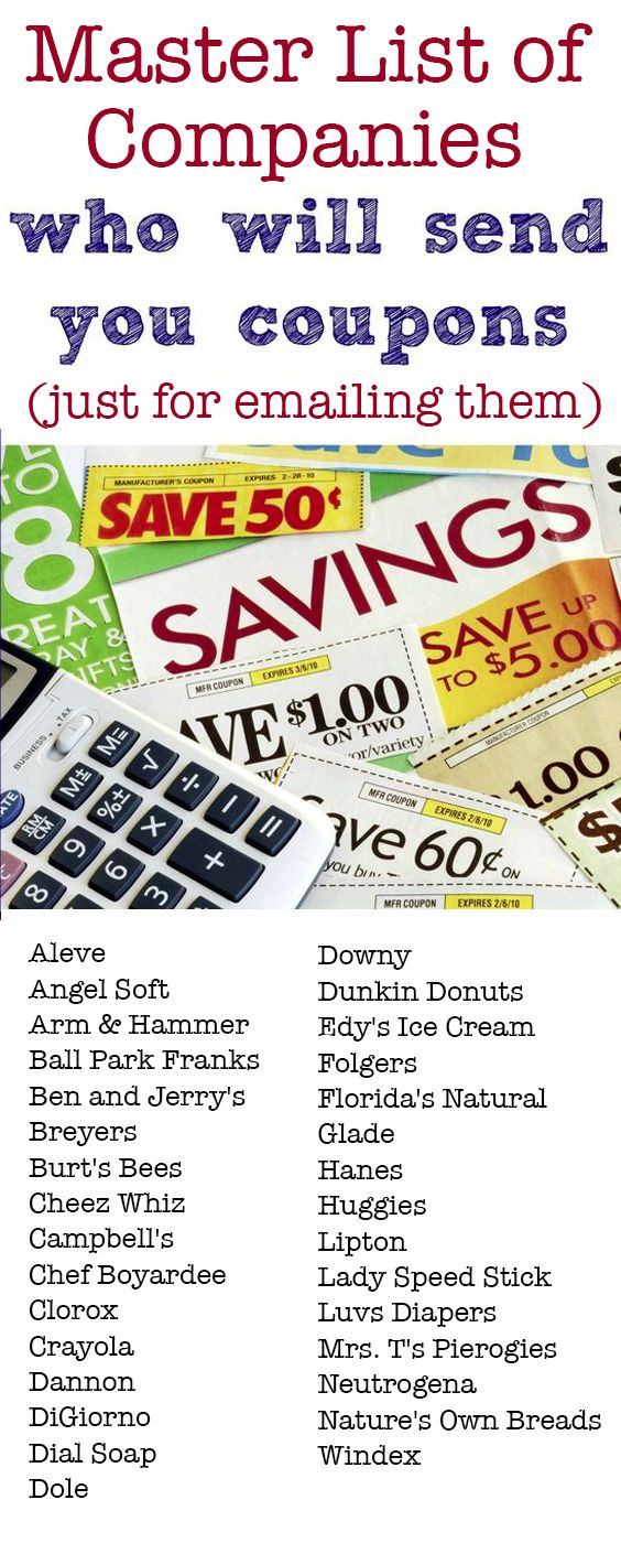 Freebies And Samples In Mail No Cost - 31 companies that will send you free coupons by mail