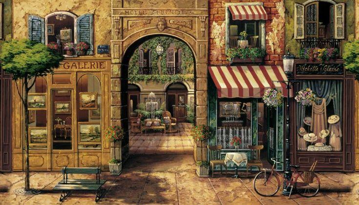 Wall Murals Tuscan Scenes | ... Murals Around the World: Tuscan Decor Wall Murals Hotel Serenite Mural