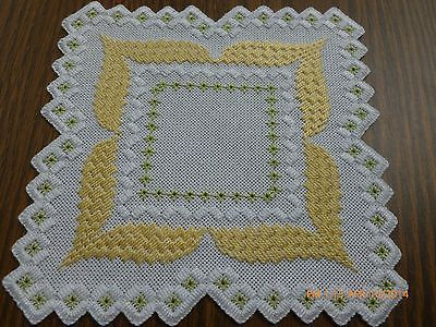 Tie a yellow ribbon - Hardanger doily on eBay!