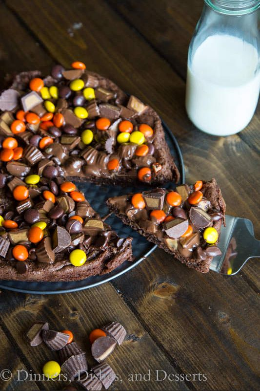 Peanut Butter Brownie Dessert Pizza Recipe