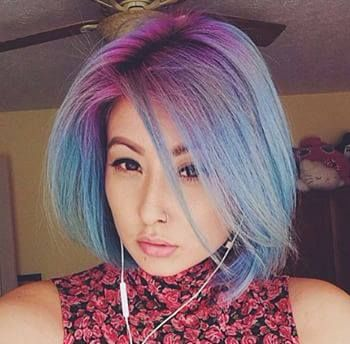 While having roots a different color from your hair used to be a source of shame, it is now a badge of pride! heart emoticon We are loving this new, colorful trend taking hold, especially on Instagram's @SamanaChuu. This beautiful lady used Manic Panic's Hot Hot Pink and Voodoo Blue over bleached hair for these results. To get the blue to be a soft tint like this, only add a few drops into our award-winning Pastelizer.