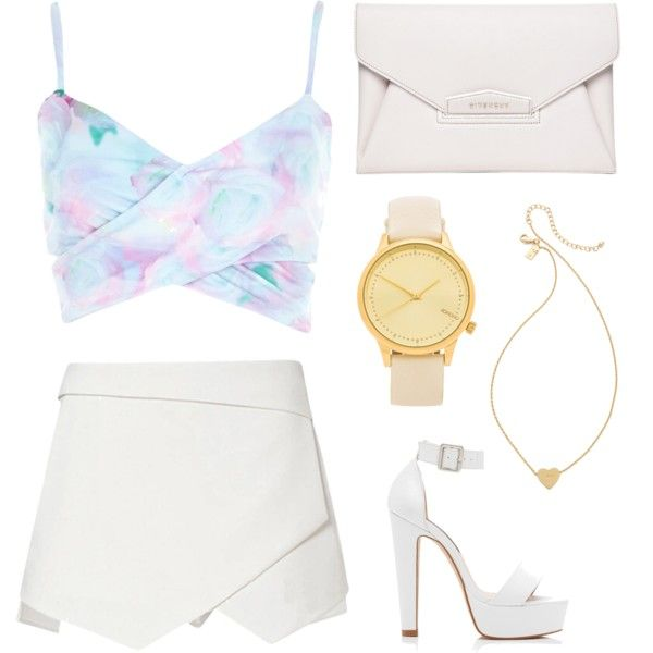 top simple feminine set by flam16 on Polyvore featuring River Island, Forever New, Givenchy, Komono and Kate Spade