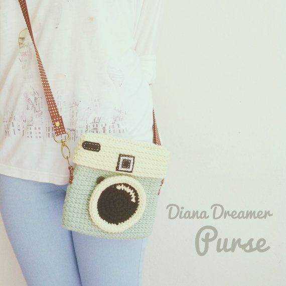 Crochet Diana Dreamer Purse Size 6.5 inch by meemanan on Etsy