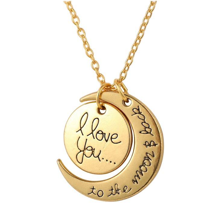 Bluelans Moon Pendant Necklace (Gold) | Lazada PH