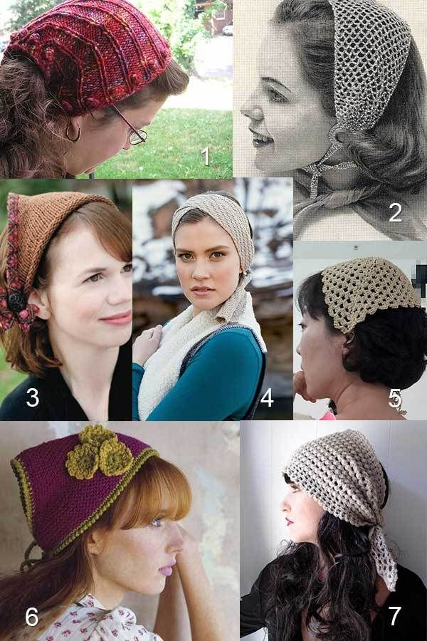 Crochet Head Scarves And Knit Head Scarves Knit Pinterest