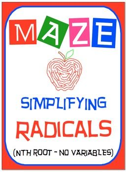 Maze - Radicals - Simplifying nth root (no variables)