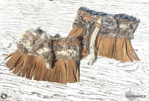 Botines de flecos botas de flecos puños de flecos flecos por Razels