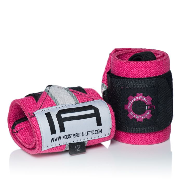 """12"""" Wrist Wrap LE - Thumb Loop White/Pink/Black. Wrist wraps are very simple. Before performing a pressing movement, wrap your wrists as tight as you need. If your wrists don't stay straight, wrap tighter. Many people limit their use wrist wraps for heavy weight on bench press mainly.  Perfect for any overhead lift, including Olympic Lifting and CrossFit. Wrist wraps will vary in strength, from Light - Normal - Heavy - Super Heavy."""