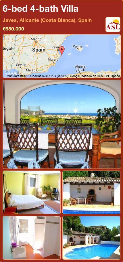 6-bed 4-bath Villa in Javea, Alicante (Costa Blanca), Spain ►€650,000 #PropertyForSaleInSpain