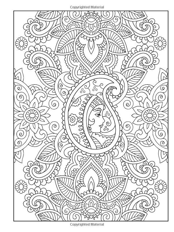 mehndi designs coloring book pages - photo#12