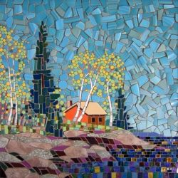 Michael Sweere is a talented artist from Minneapolis, whose work consists in fine art mosaics, created with recycled materials.