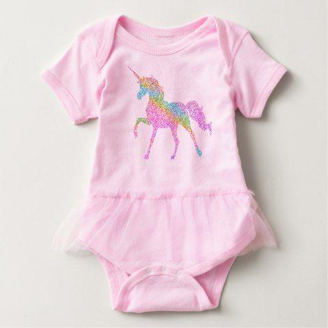 Baby Tutu Bodysuit -  Rainbow Unicorn #rainbow #kids #clothing