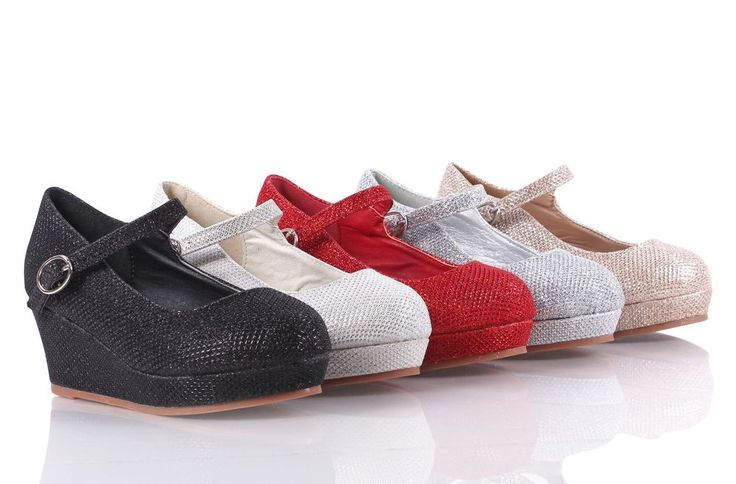 5 Color Blink Glitter Pumps Buckle Girls Heels Kids Dress Shoes Youth Size 9 - 4 #Other #DressShoes