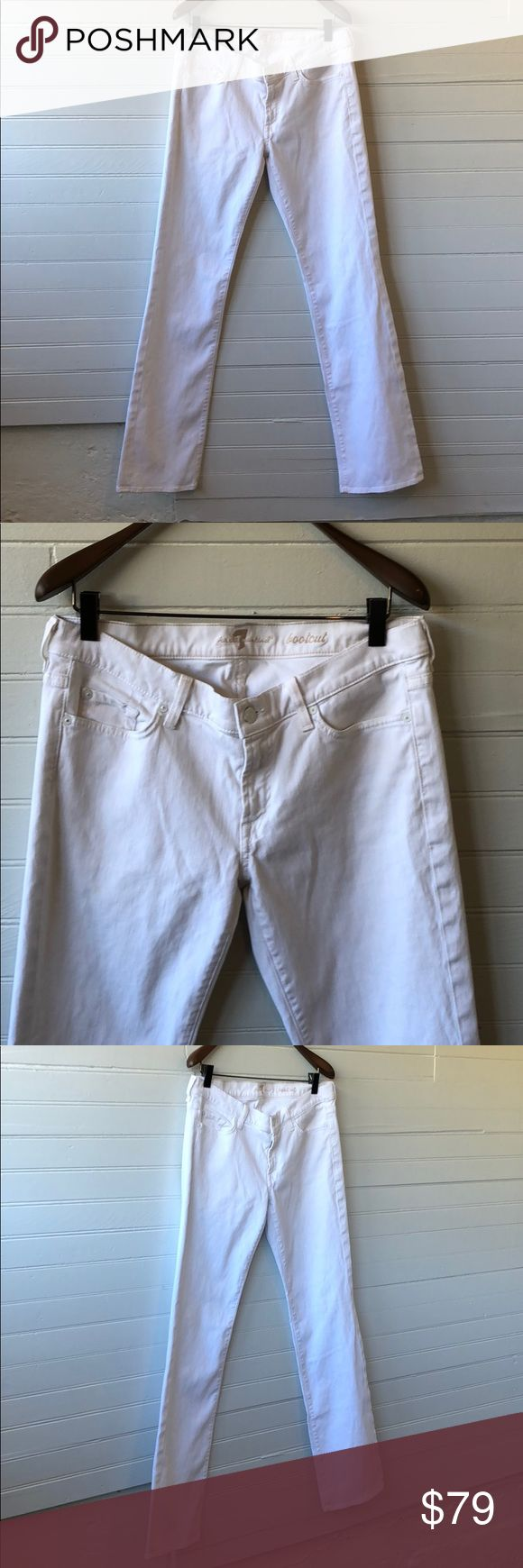 7 for all mankind white bootcut jean Excellent used condition wait to cut jean 7 for all mankind no stains no rips stretch denim material very comfortable 7 For All Mankind Jeans Boot Cut