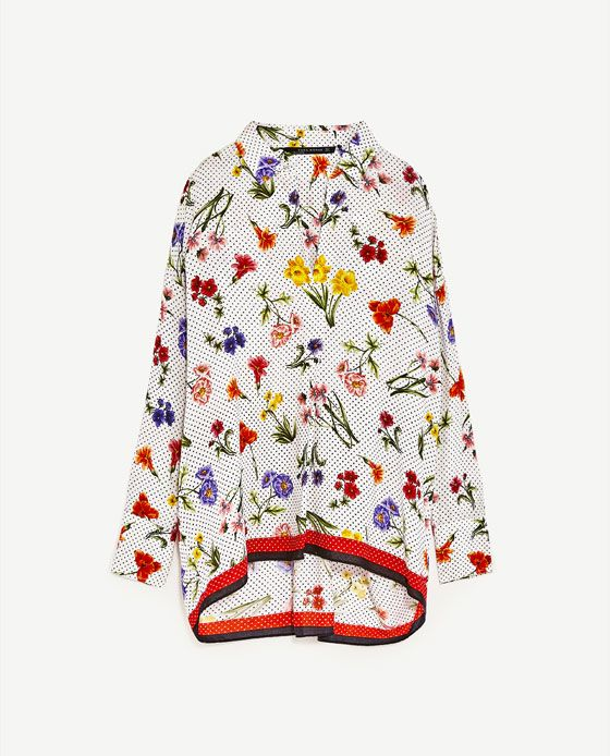 Image 6 of PRINTED BLOUSE from Zara