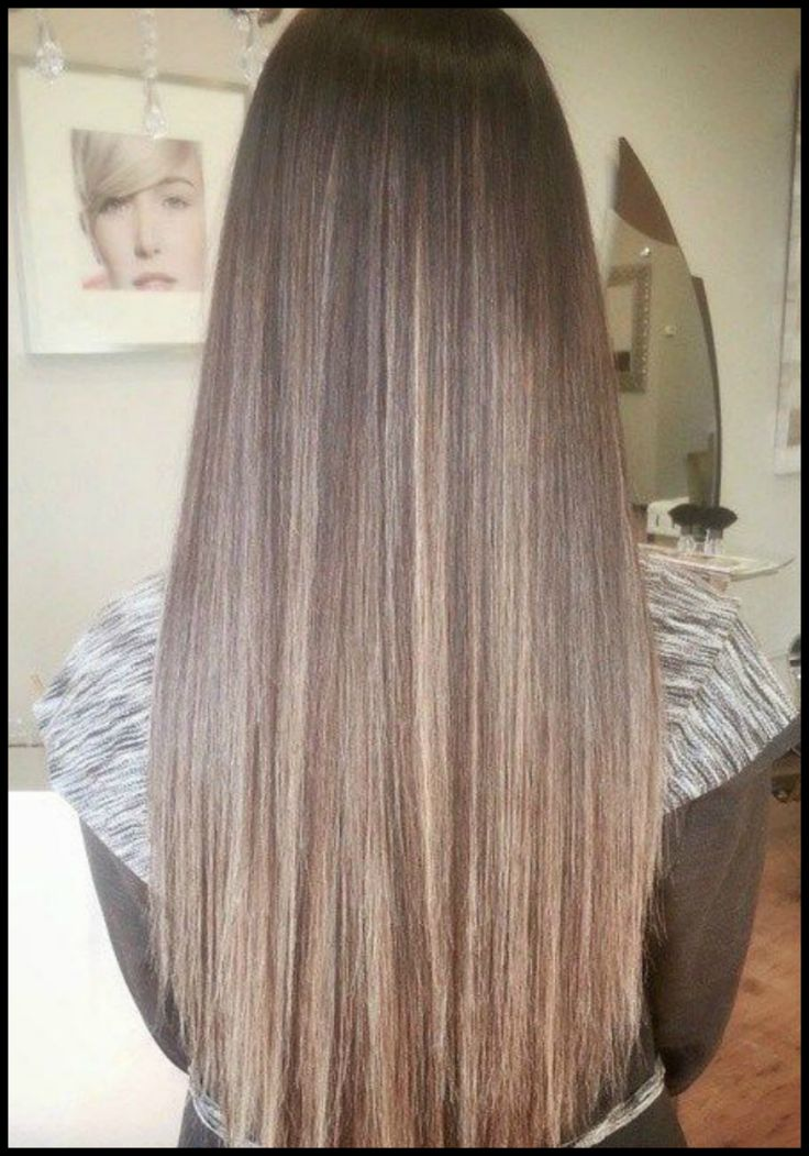 Long Straight Highlighted Hair Hair Color Ideas And