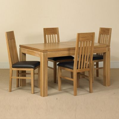 Debenhams Oak Kent Small Extending Table And Set Of 6 Chairs At