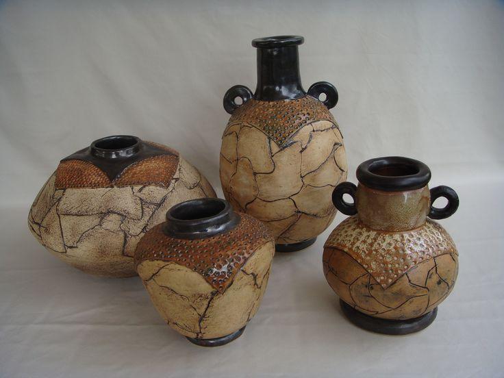 Handbuilt pots by Emmi