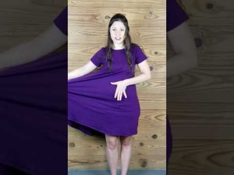 How to style the LuLaRoe Carly into a wrap dress. - YouTube