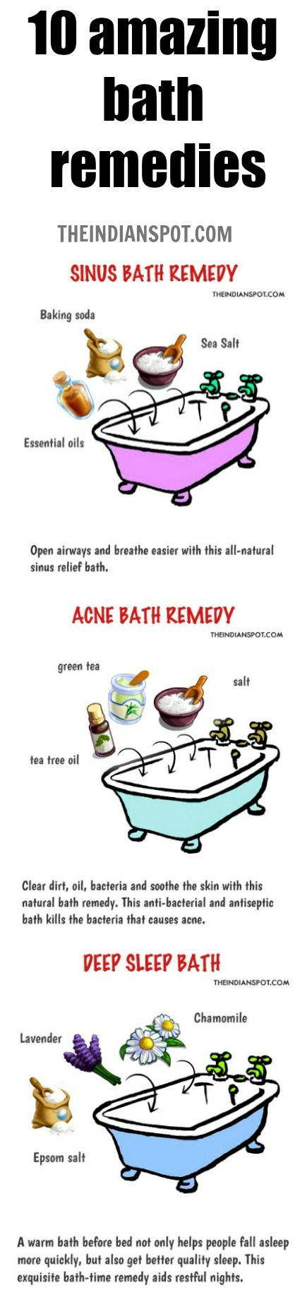 Try these 10 amazing bath remedies for acne, sinuses and more!